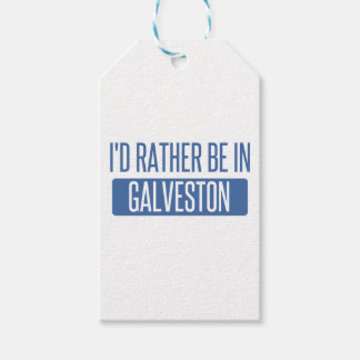 I'd rather be in Galveston Gift Tags