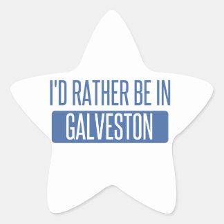 I'd rather be in Galveston Star Sticker