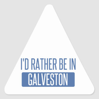 I'd rather be in Galveston Triangle Sticker