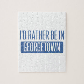 I'd rather be in Georgetown Jigsaw Puzzle