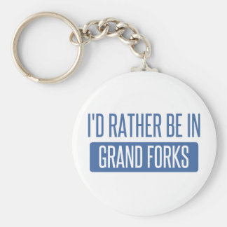 I'd rather be in Grand Forks Basic Round Button Keychain