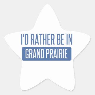 I'd rather be in Grand Prairie Star Sticker