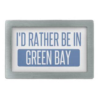 I'd rather be in Green Bay Rectangular Belt Buckle