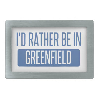I'd rather be in Greenfield Rectangular Belt Buckle