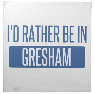 I'd rather be in Gresham Napkin