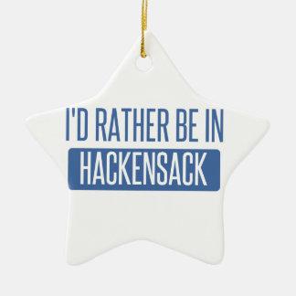 I'd rather be in Hackensack Ceramic Star Ornament