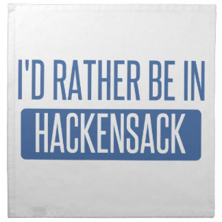 I'd rather be in Hackensack Cloth Napkins
