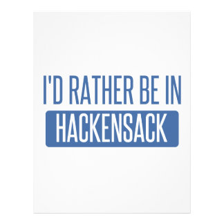 I'd rather be in Hackensack Customized Letterhead
