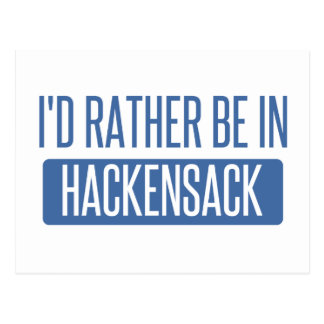 I'd rather be in Hackensack Postcard