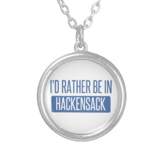 I'd rather be in Hackensack Silver Plated Necklace