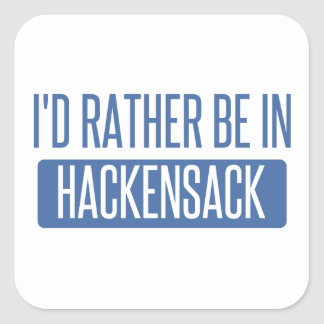 I'd rather be in Hackensack Square Sticker