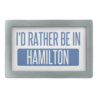 I'd rather be in Hamilton Rectangular Belt Buckle