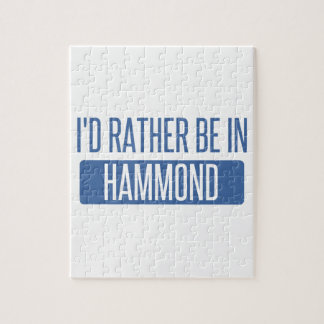 I'd rather be in Hammond Jigsaw Puzzle