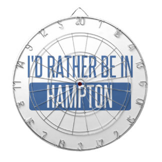 I'd rather be in Hampton Dartboard