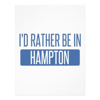 I'd rather be in Hampton Letterhead
