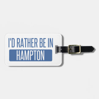 I'd rather be in Hampton Luggage Tag