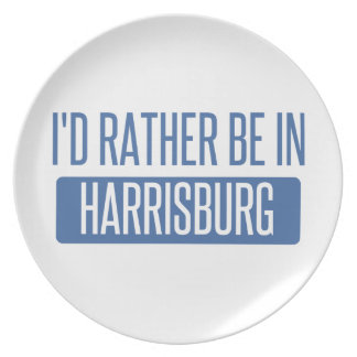 I'd rather be in Harrisburg Plate
