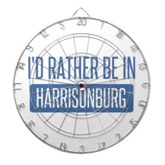 I'd rather be in Harrisonburg Dartboard