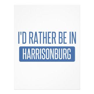 I'd rather be in Harrisonburg Letterhead