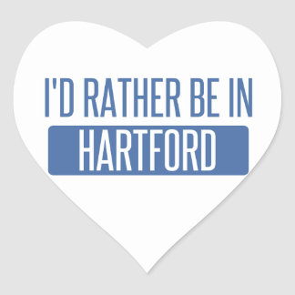 I'd rather be in Hartford Heart Sticker