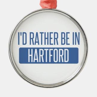 I'd rather be in Hartford Metal Ornament
