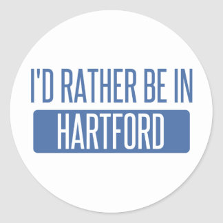 I'd rather be in Hartford Round Sticker