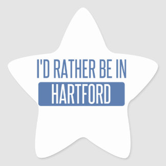 I'd rather be in Hartford Star Sticker