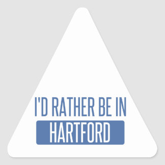 I'd rather be in Hartford Triangle Sticker
