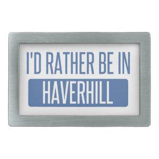 I'd rather be in Haverhill Rectangular Belt Buckles