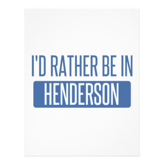 I'd rather be in Henderson Letterhead