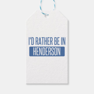I'd rather be in Henderson Pack Of Gift Tags