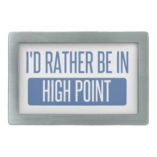 I'd rather be in High Point Rectangular Belt Buckle