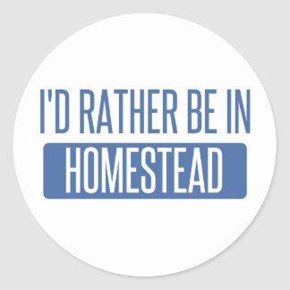 I'd rather be in Honolulu Classic Round Sticker