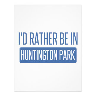 I'd rather be in Huntington Park Letterhead