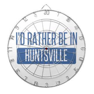 I'd rather be in Huntsville AL Dartboard