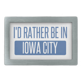 I'd rather be in Iowa City Belt Buckles