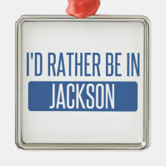 I'd rather be in Jackson TN Metal Ornament