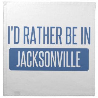 I'd rather be in Jacksonville FL Napkin