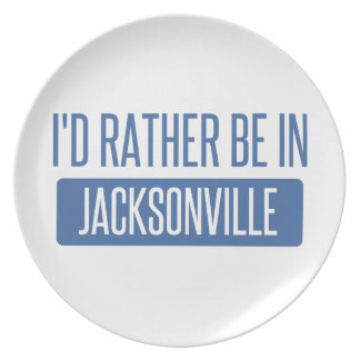 I'd rather be in Jacksonville FL Plate