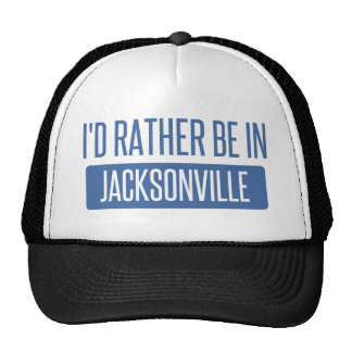 I'd rather be in Jacksonville NC Trucker Hat