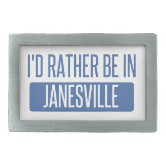 I'd rather be in Janesville Rectangular Belt Buckles
