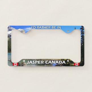I'd Rather Be In Jasper Canada License Plate Frame