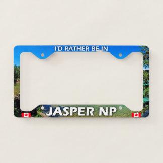 I'd Rather Be In Jasper NP, Alberta, Canada License Plate Frame