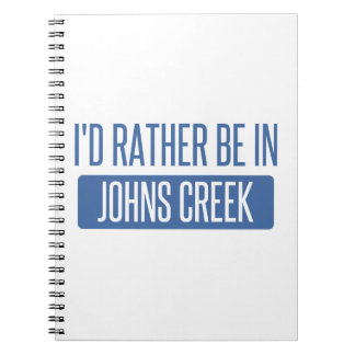 I'd rather be in Johns Creek Notebook