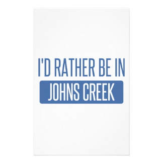 I'd rather be in Johns Creek Stationery