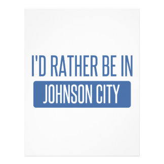 I'd rather be in Johnson City Letterhead