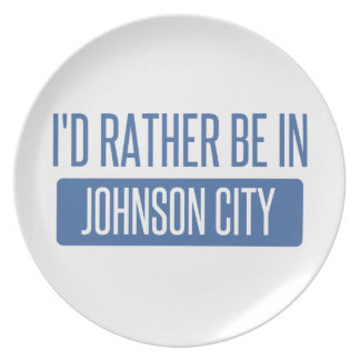 I'd rather be in Johnson City Plate