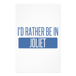 I'd rather be in Joliet Stationery