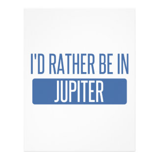 I'd rather be in Jupiter Letterhead Template