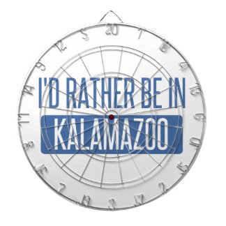 I'd rather be in Kalamazoo Dartboard